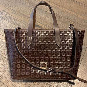 Dooney & Bourke Woven Embossed Leather Satchel